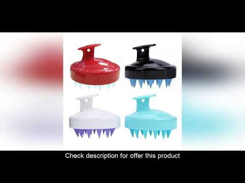 (30%OFF) Vente Peigne de lavage des cheveux Silicone cuir chevelu shampooing brosse de Massage corp