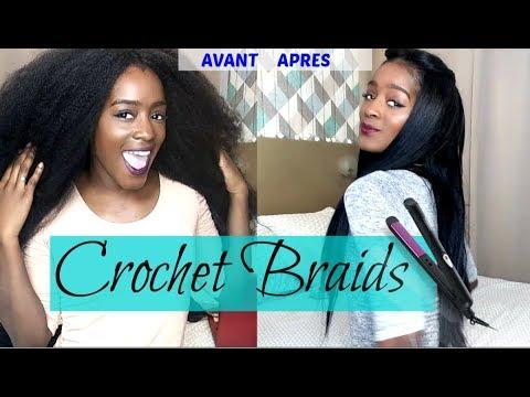 Coiffure protectrice Crochet braids !!!! Effet naturel.