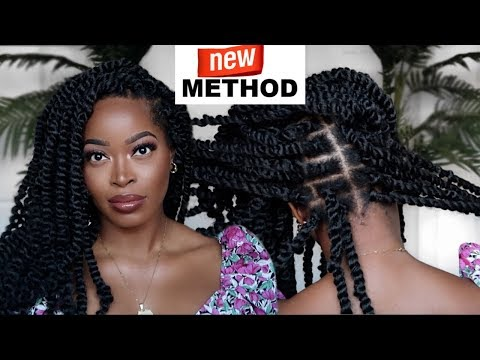 ‼️NEW METHOD🔥 INDIVIDUAL CROCHET BRAID PASSION TWISTS: #NOCORNROWS  😱#4Chair ft Janet Collection