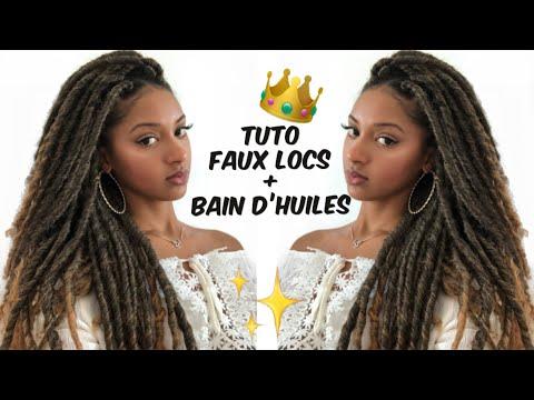 TUTO FAUSSES LOCKS (CROCHET) + BAIN D'HUILES CHEVEUX CRÉPUS | Farah's World