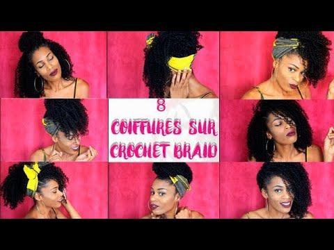 8 COIFFURES SUR CROCHET BRAID CHEVEUX CREPUS 4A 4B 4C NATURAL HAIR MILIES HAIRSTYLE