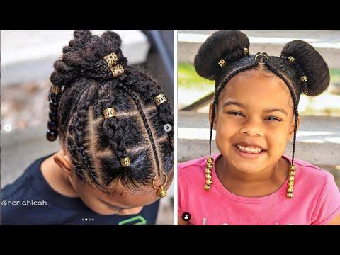 10 Coiffures Mignonnes et Faciles pour Enfants à faire sur Cheveux crépus ou bouclés 🥰