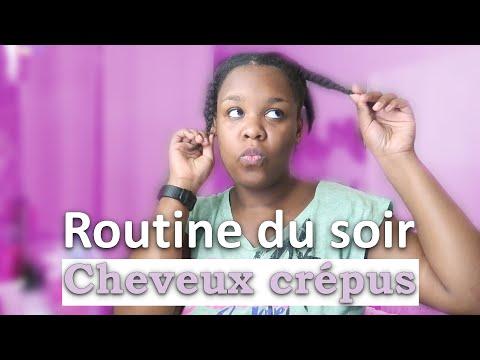 ROUTINE CHEVEUX CREPUS SOIR | Pour aller dormir | cheveux 4b – 4c – cheveux afro