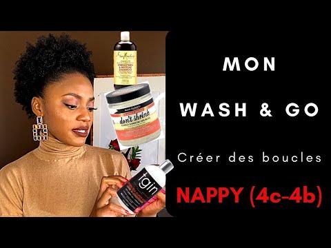 💦  💫WASH and GO sur cheveux crépus (4C) CRÉER DES BOUCLES  💫💦