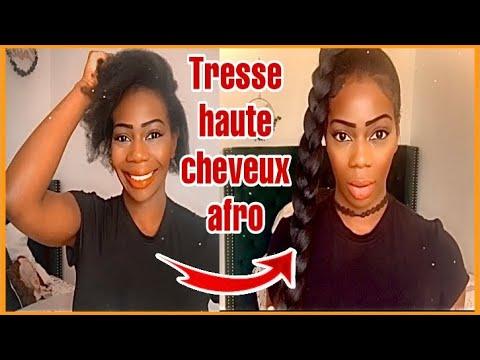 TRESSE HAUTE ON FLEEK SUR CHEVEUX CREPUS pour 3.90€ // LONG BRAIDED PONYTAIL 4C HAIR
