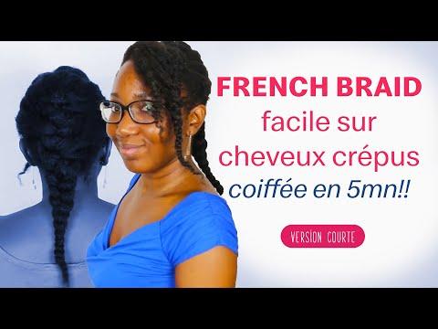 French braid facile sur cheveux crepus 4c   ASTUCE COIFFURE CHEVEUX NATURELS