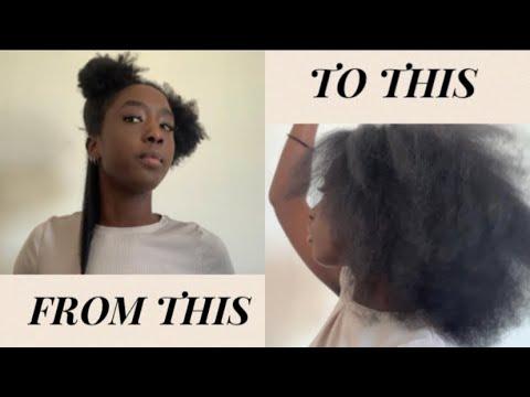 TUTO : Brushing rapide sur cheveux crépus ( 4B/4C )