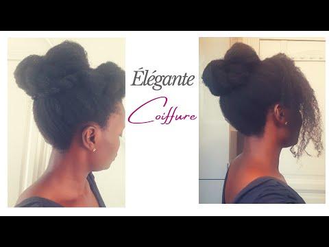🇨🇮54. Chignon ÉLÉGANT et SIMPLE À FAIRE – cheveux crépus 4C | Kinky hair beauties