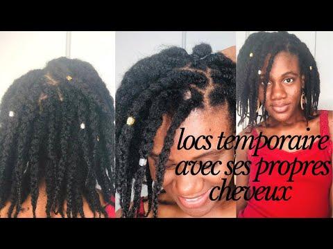 Les locs temporaires avec ces cheveux 4C sans extensions inspiré par Lilian Okibe   naturalhairci
