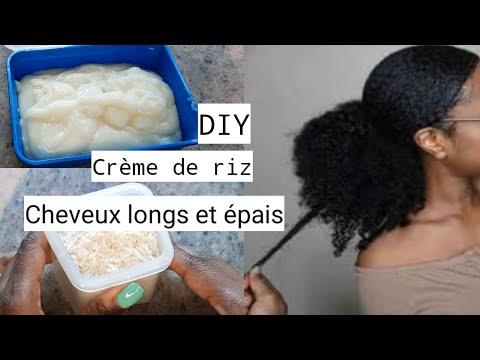 DIY crème de riz pour des cheveux plus longs et épais