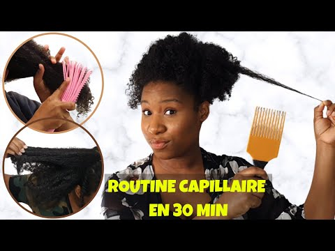 CHEVEUX AFRO EPISODE 5: MA ROUTINE CAPILLAIRE EXPRESSE 30 min ft  BROSSE DEMELANTE MOFAJANG