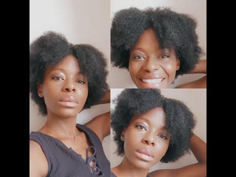 Un secret pour hydrater vos cheveux afro🤫#hairroutine #afrostyle #nappy