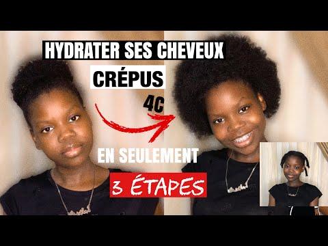 HYDRATER ET ÉTIRER SES CHEVEUX CRÉPUS 4C EN 3 ÉTAPES || ADJAH'S VIE