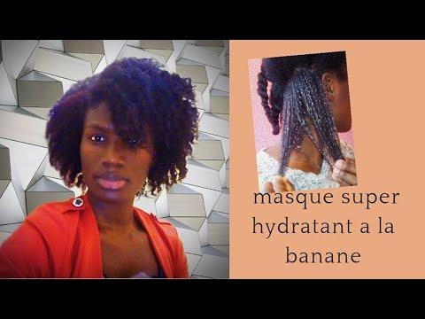 Masque super hydratant a la 🍌 banane Démêlant cheveux crépus