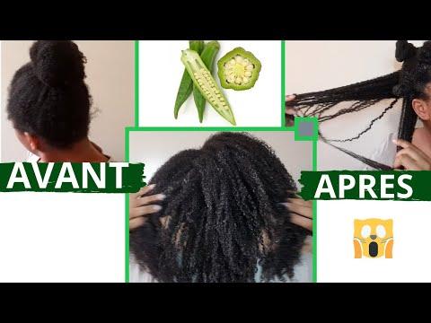 Recette du gel de gombo (kalalou) pour cheveux crépus : hydratation, définition, brillance GARANTIS