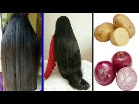 Comment faire pousser des cheveux longs et les épaissir avec des oignons et des pommes de terre