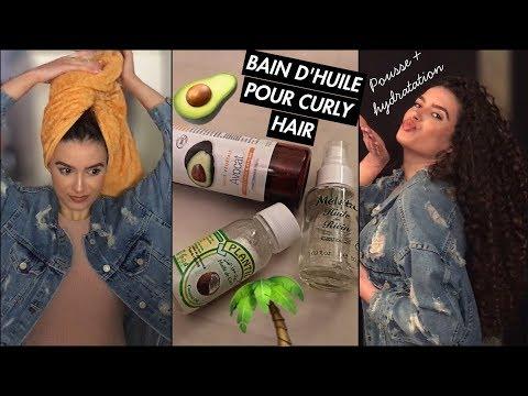 BAIN D'HUILE POUR CURLYHAIR🥑🌴- Favorise la pousse + Nourrit les cheveux en profondeur