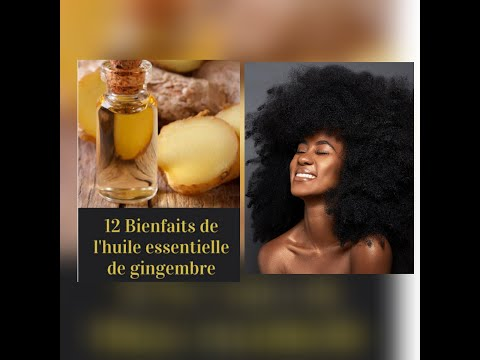 L'huile de gingembre pour la pousse de cheveux #gingembre