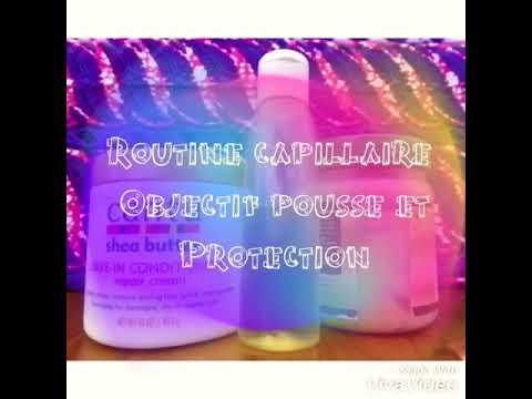 Routine capillaire objectif pousse et protection (huile de coco+beurre de karité)