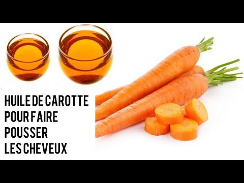 Huile de carotte bio «fait maison» pour faire pousser les cheveux