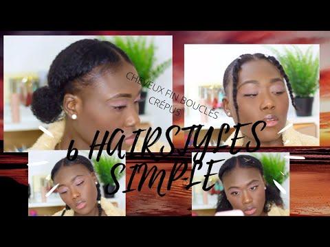 7 Hairstyle #Cheveux fin #cheveux crépus #cheveux bouclés