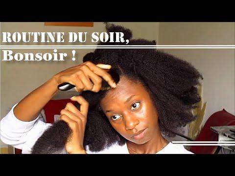 Tuto coiffure : ROUTINE DU SOIR🌛  [cheveux crépus 4C B et  A] – hydratation et protection