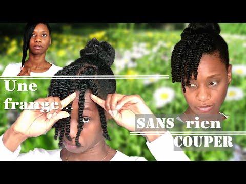 Tuto coiffure : Comment se faire UNE FRANGE SANS se COUPER les cheveux- [cheveux crépus]💡4C, B, A