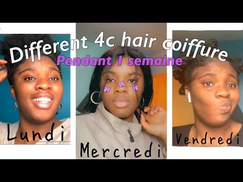 JE TESTE DIFFÉRENTES COIFFURES PENDANT 1 SEMAINE (cheveux crépus, 4 c hair )