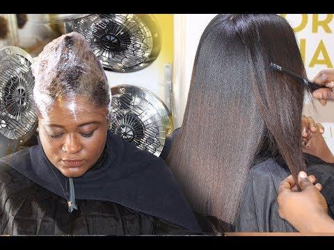 SILK PRESS soin et lissage sur cheveux naturels crépus  avec E'TAE