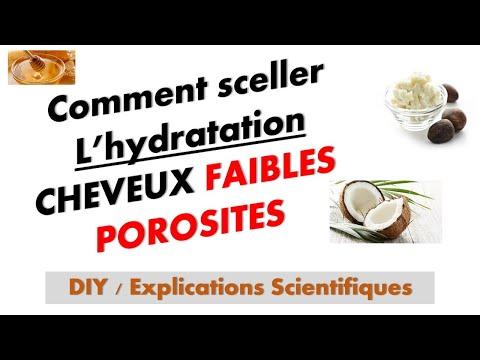 Cheveu faible porosité   SCELLER L'HYDRATATION   Explications Scientifiques