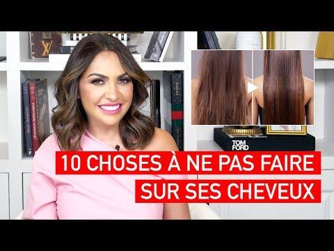 10 choses à ne pas faire sur ses cheveux