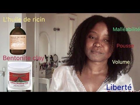 Mes cheveux crépus: Huile de ricin /Bentonite clay volume et pousse