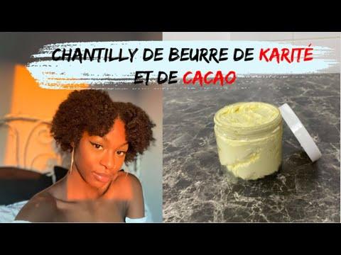 DIY CHANTILLY KARITE CACAO FAIT MAISON