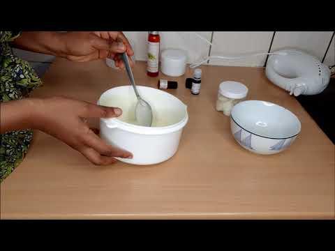 DIY Chantilly de karité de de cacao pour l'hydratation des cheveux et corps
