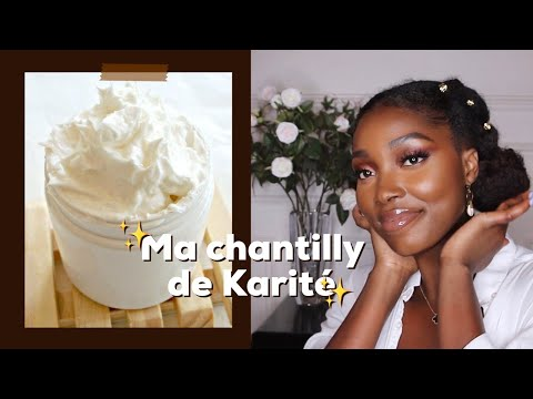 Une peau et des cheveux DOUX 🤩🌸 Ma chantilly de Karité