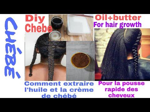 DIY: chebe oil+butter for rapid hair growth/huile+crème de chébé pour la pousse rapide des cheveux