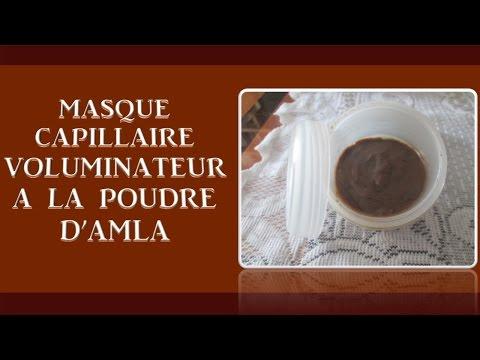 Masque capillaire maison volumisateur à la poudre d'Amla