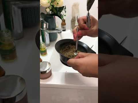 Masque capillaire anti-chute 👩 poudre de Brahmi + huilede funigrec +huile d'amande douce 🥰