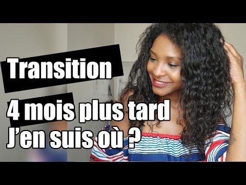 Cheveux en transition 4 mois plus tard super POUSSE – Manuela Miró