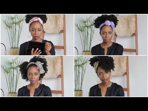 [Cheveux crépus] Comment je mets en valeur mes cheveux avec un foulard – 4 Styles faciles!
