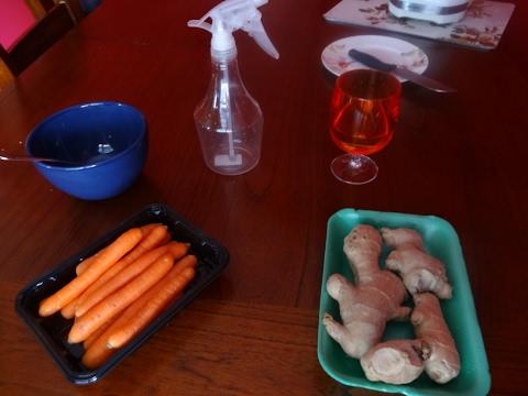 Pousse rapide: Masque aux carottes  Fortifiant et hydratant