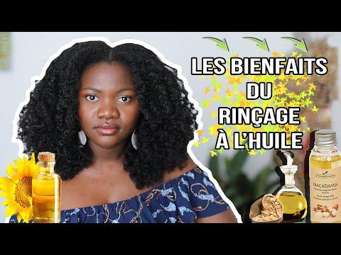 Comment faire le rinçage à l'huile sur cheveux crépus frisés bouclés et ses bienfaits