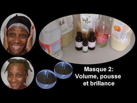 CHEVEUX CREPUS : Masque 2 Volume, Pousse et Brillance