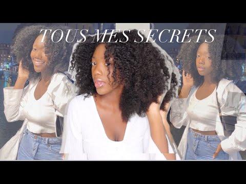 AVOIR DE LONGS CHEVEUX NATURELS?TOUS MES SECRETS – ma routine cheveux crépus (ultra simple)