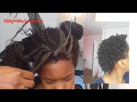 Le secret de la pousse maximale des cheveux afro,la séparation des mèches,et le démêlage par mèches