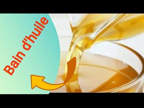 Bain d'huile pour la pousse des cheveux