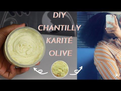 DIY CRÈME CHANTILLY AU KARITÉ ET HUILE D'OLIVE POUR CHEVEUX CRÉPUS (NUTRISSION INTENSE)