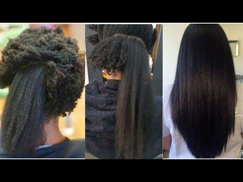 COMMENT LISSER LES CHEVEUX CREPUS ET AFRO – Silk press transformation on natural hair Compilation