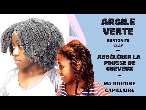 ACCÉLÉRER LA POUSSE DE CHEVEUX | MASQUE D'ARGILE VERTE (BENTONITE) – CHEVEUX CRÉPUS, BOUCLÉS, FRISÉS