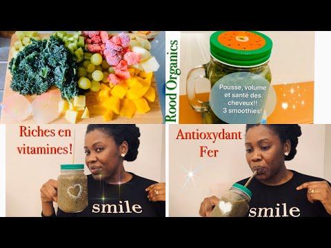 🌿#15. 3 SMOOTHIES POUR UNE POUSSE FOLLE! #Nutrition#Hydratation#cheveux en santé!